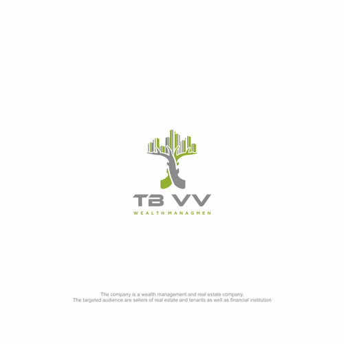 modern and sustainable logo for wealth mgmt and real estate comp with high recogn. value