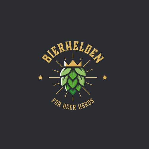 Beer hero mascot logo