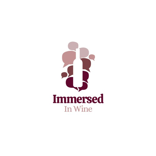 Logo concept for Immersed in wine