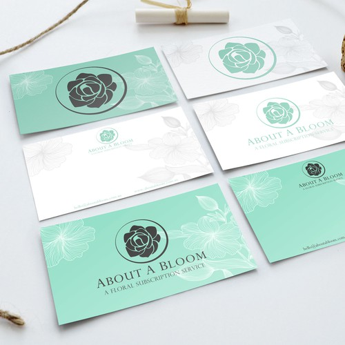 Letterhead + Delivery Card designs needed for small florist!