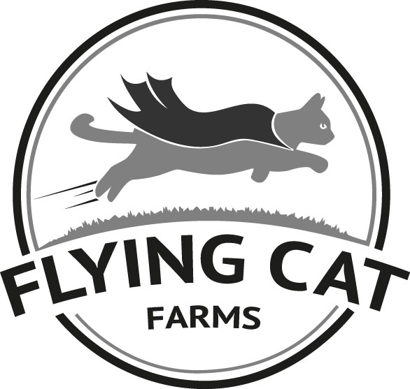 Flying Cat Farms logo for agricultural start up