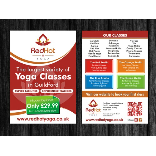 Red Hot Yoga Flyer
