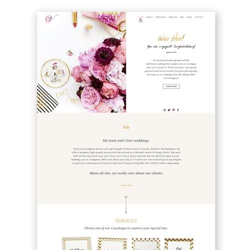 Portfolio website for a Wedding Photographer