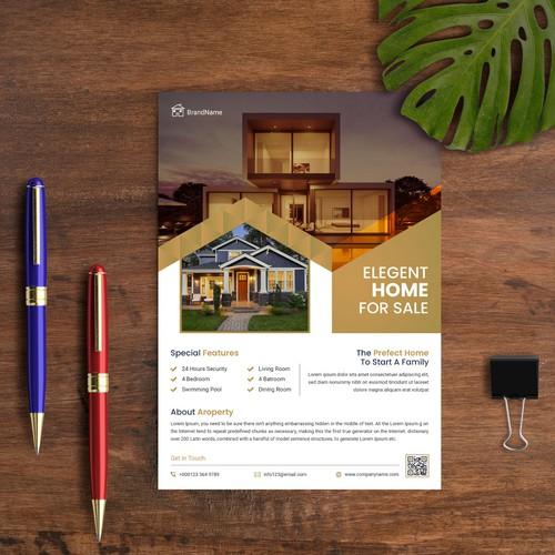Real estate flyer or brochure design