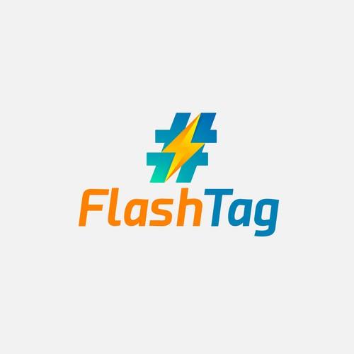 flash tag concept logo