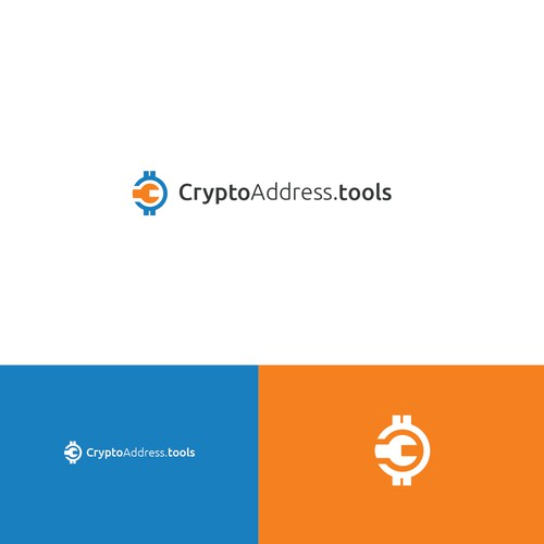 A cryptocurrency logo contest entry