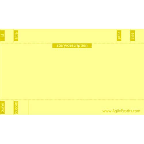 Postit Note Template