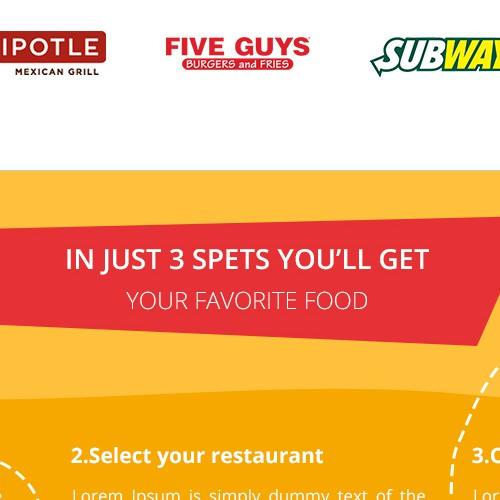 Website design for food order.