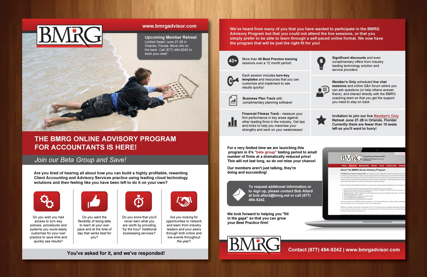 Help BMRG, LLC with a new postcard or flyer