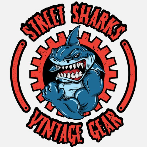 shark vintage gear design