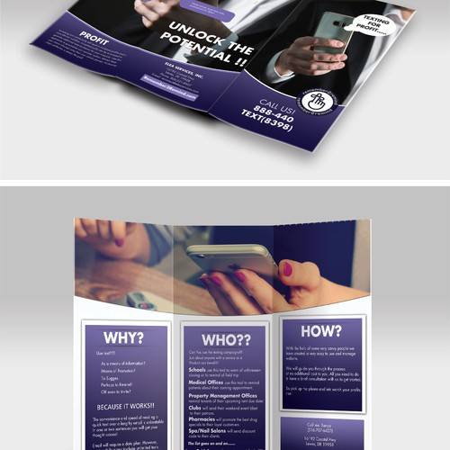 Brochure design for Remember2Remind