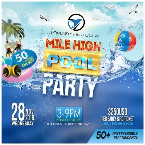 club pool party poster