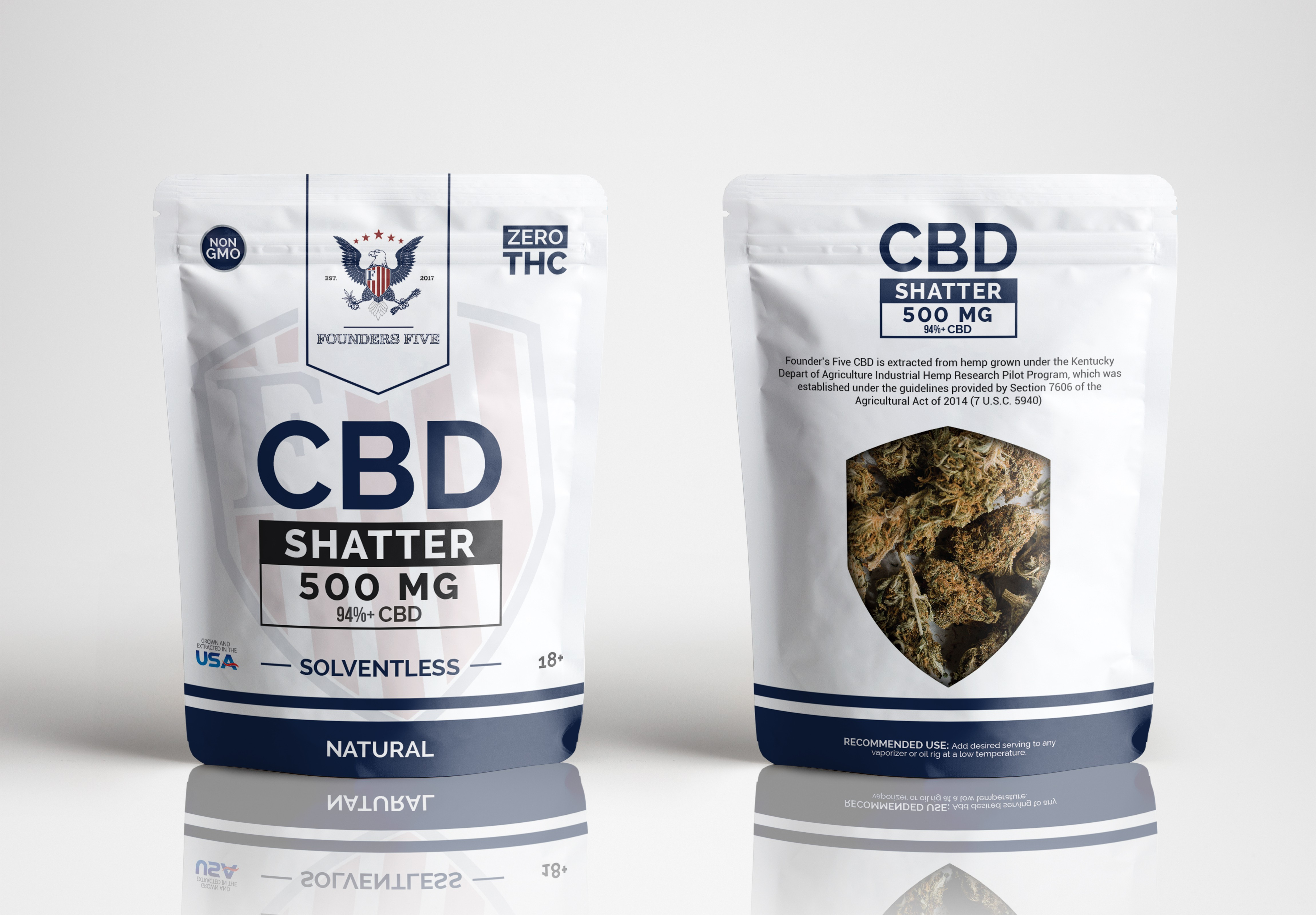 Product Packaging Design for Natural Hemp Derived Products