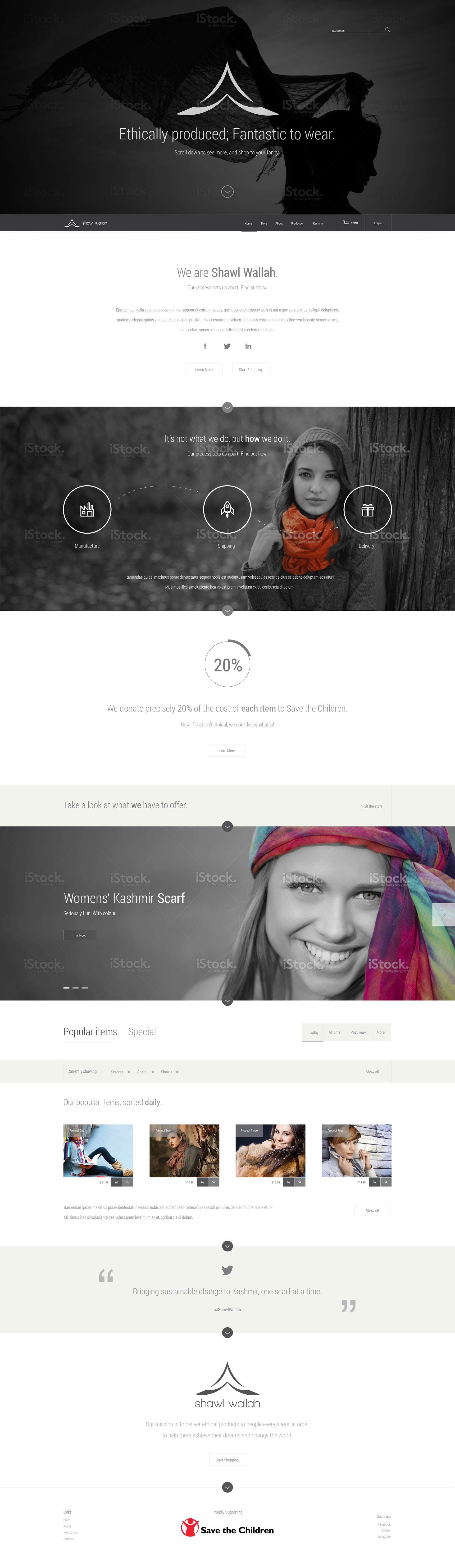Website Creation for Sustainable Fashion Line