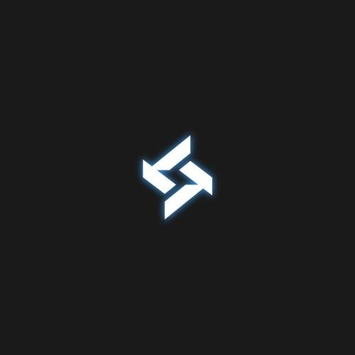 Stars techno symbol for DJ logo