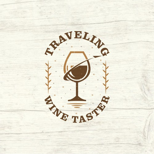Simple logo for wine taster