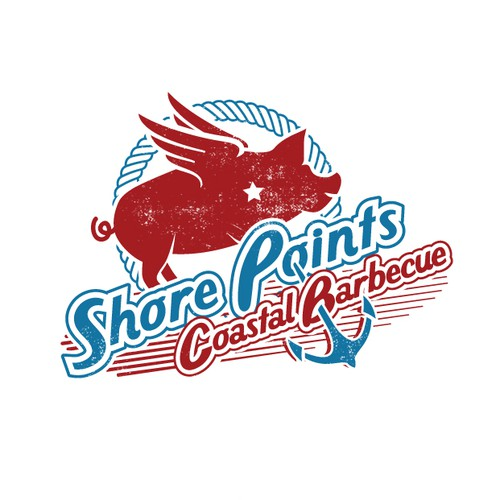 Shore Points Coastal BBQ logo