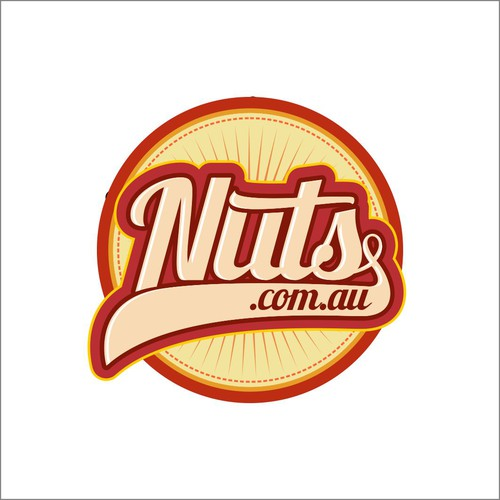 Create a cool vintage logo for NUTS.com.au