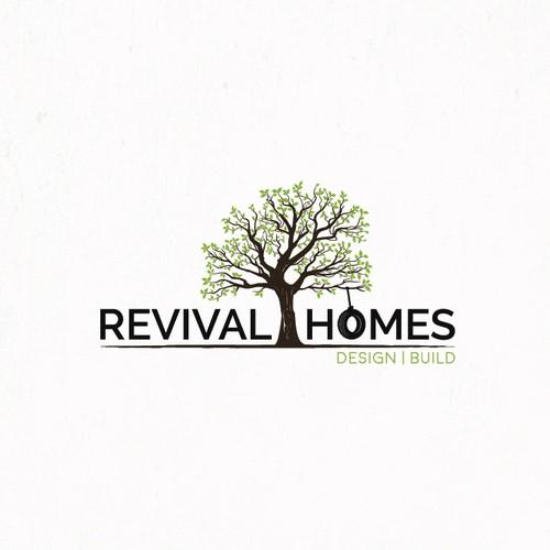 Artistic logo for Revival Homes