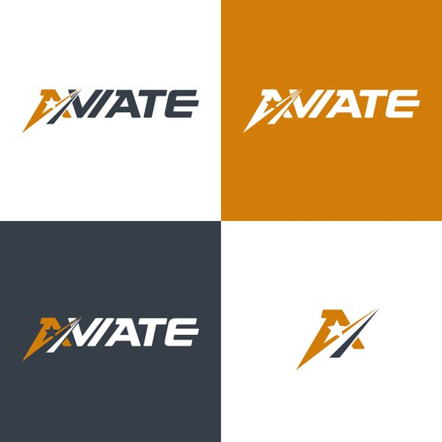 Aviate logo design