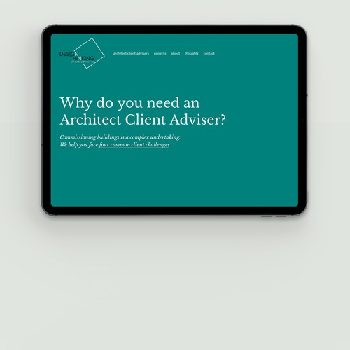 RIBA Architect Client Advisers. London, the UK