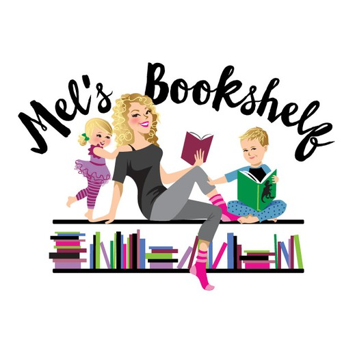 mel's bookshelf illustration