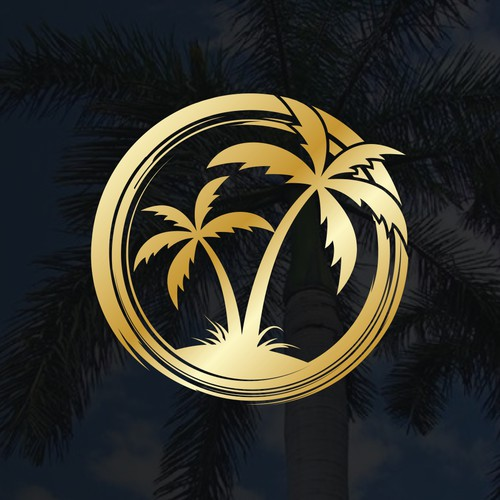 OPalm or a big circle with palm tree inside and the word Palm next to it