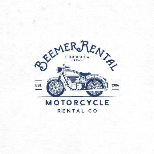 Logo for BMW Motorcycle Rental Company.