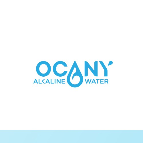 Simple straight logo for Alkaline Water