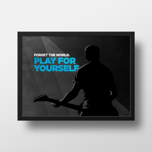 Motivation Poster Concept for Guitarist