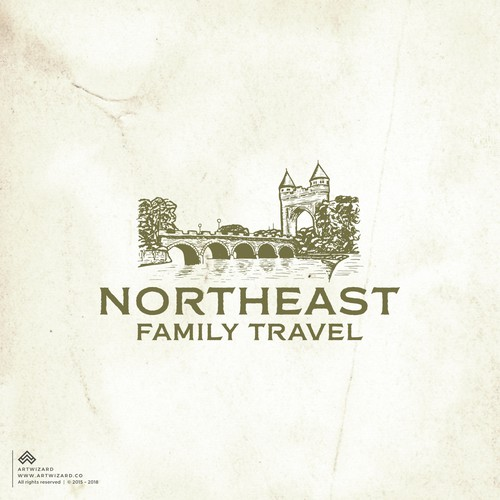 Vintage Logo for Northeast Family Travel