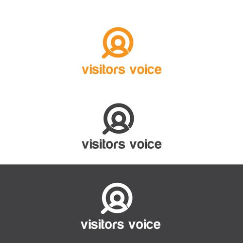 Logo design for Visitors Voice - a brand with a global audience