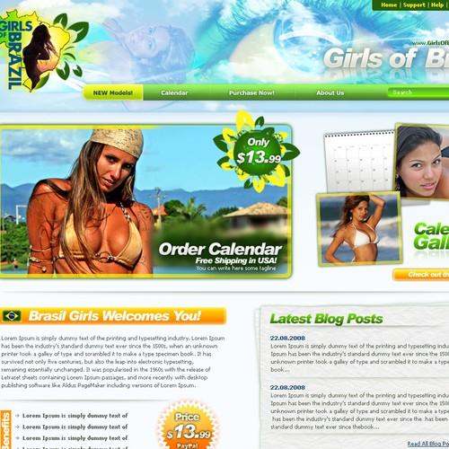 Swimsuit calendar retail site