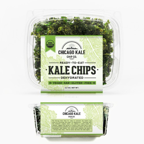Label for Kale Chips