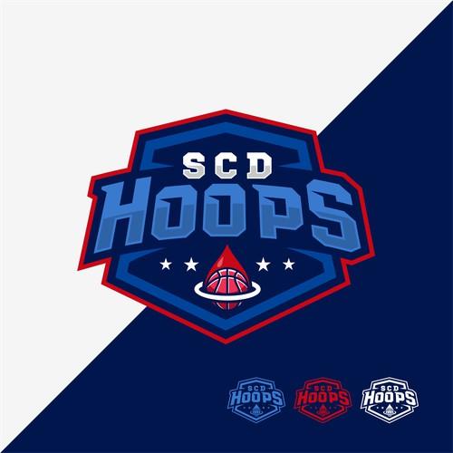 Basketball Logo for Team 'SCD Hoops'
