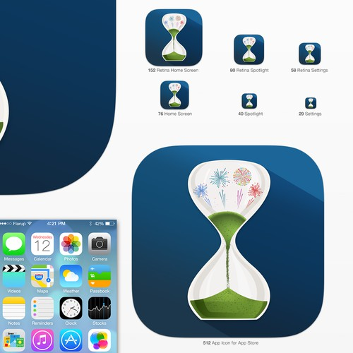 Create an app icon for an Event Countdown app