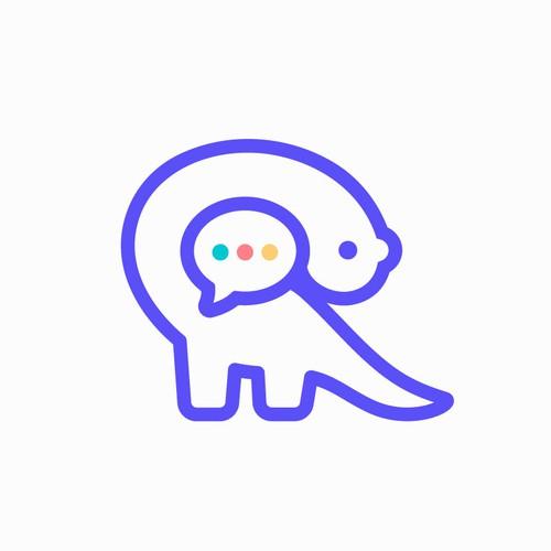 dinochat logo design
