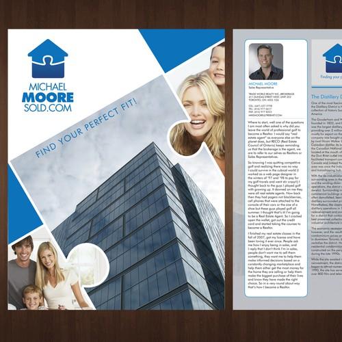 Create a brochure design for MikeMooreSold.com!