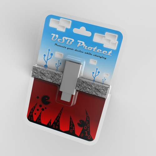 USB Protect device packaging concept