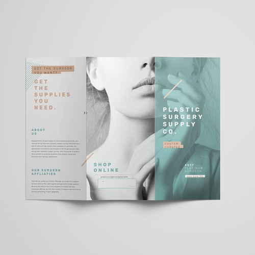Trifold design for Plastic Surgery Supply Co