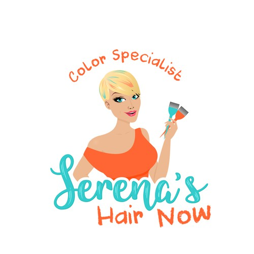 Whimsical logo for a Hair Color Specialist