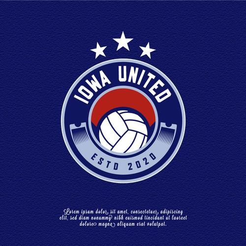 Iowa United's junior volleyball elite club logo