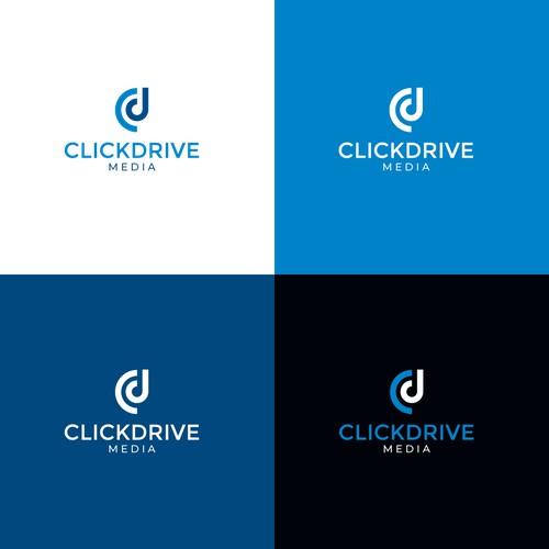 Logo for clickdrive media agency