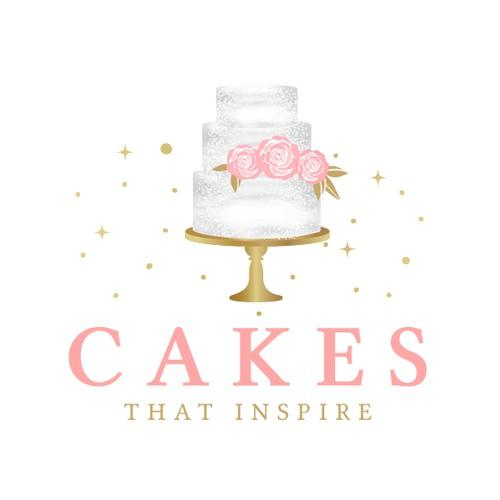 Elegant cake logo