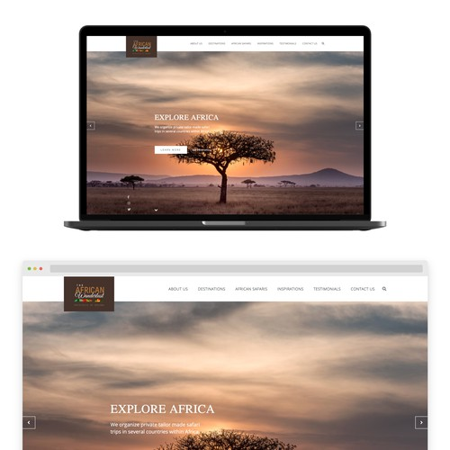 African tourism agency website