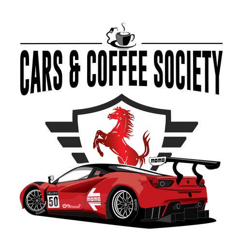 "A Ferrari 488  GT3 T-Shirt project for ""Cars And Coffee"""
