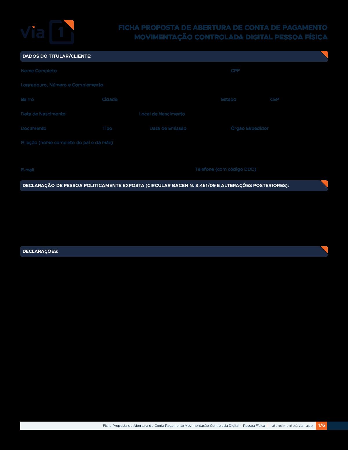 Novas telas - Cadastro do usuário