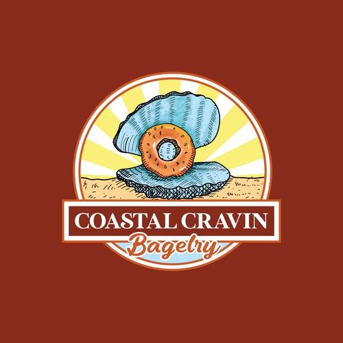 Design a Coastal Chic & Trendy Bagel Shop logo