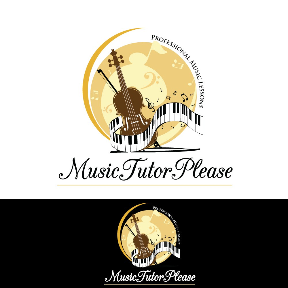 Create a professional logo for piano, violin and music theory lessons for all ages 3+