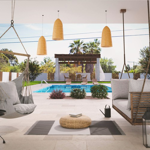 3D Render of a house & landscaping